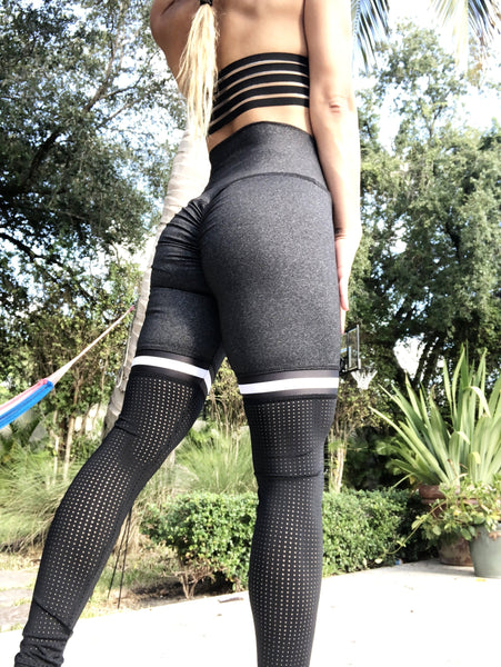 Special Friday Product Soccer Mom Thigh High leggings in Dharma Gray (JUST LEGGINGS)
