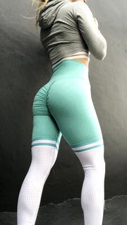 Soccer Mom High Thigh in Heather Mint - ABS2B FITNESS APPAREL