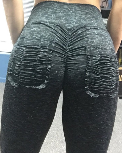Booty Pum Pum ruched pocket Leggings - ABS2B FITNESS APPAREL