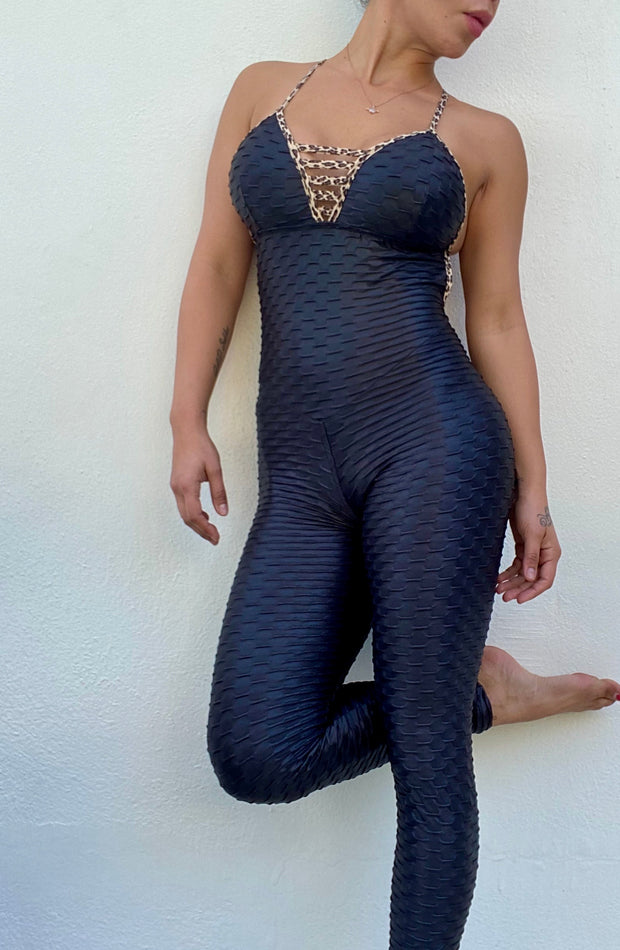Zero Flaws Jumpsuit Leopard - ABS2B FITNESS APPAREL