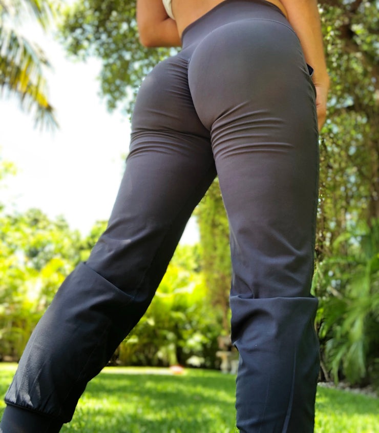 Scrunch Booty silky touch Joggers Dark Gray - ABS2B FITNESS APPAREL