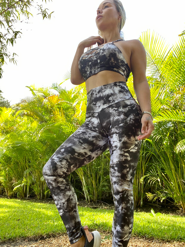 Tie Dye Black and White - ABS2B FITNESS APPAREL