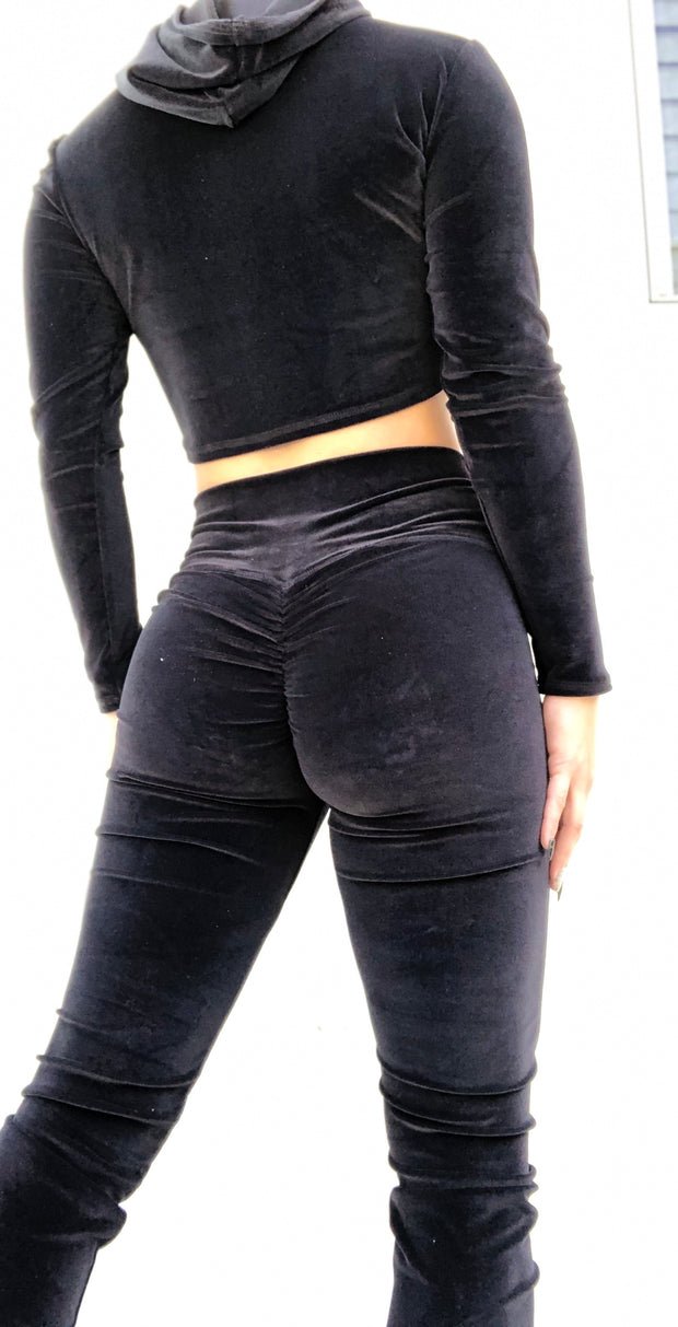 Velvet Babe Tracksuit Halo Black - ABS2B FITNESS APPAREL