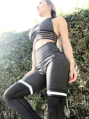 Soccer Mom Thigh High in Dharma Gray - ABS2B FITNESS APPAREL
