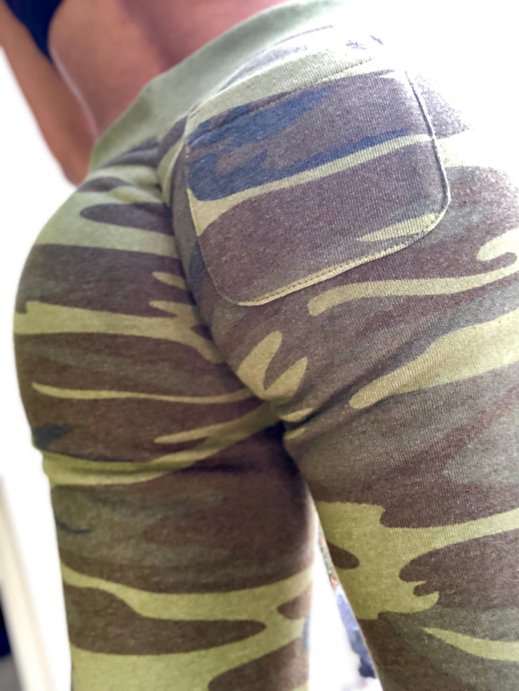 Scrunch Booty Joggers Camo - ABS2B FITNESS APPAREL