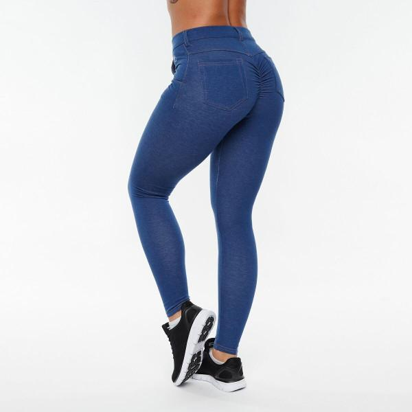 LeJeans Blue (Pockets & Zipper) - ABS2B FITNESS APPAREL