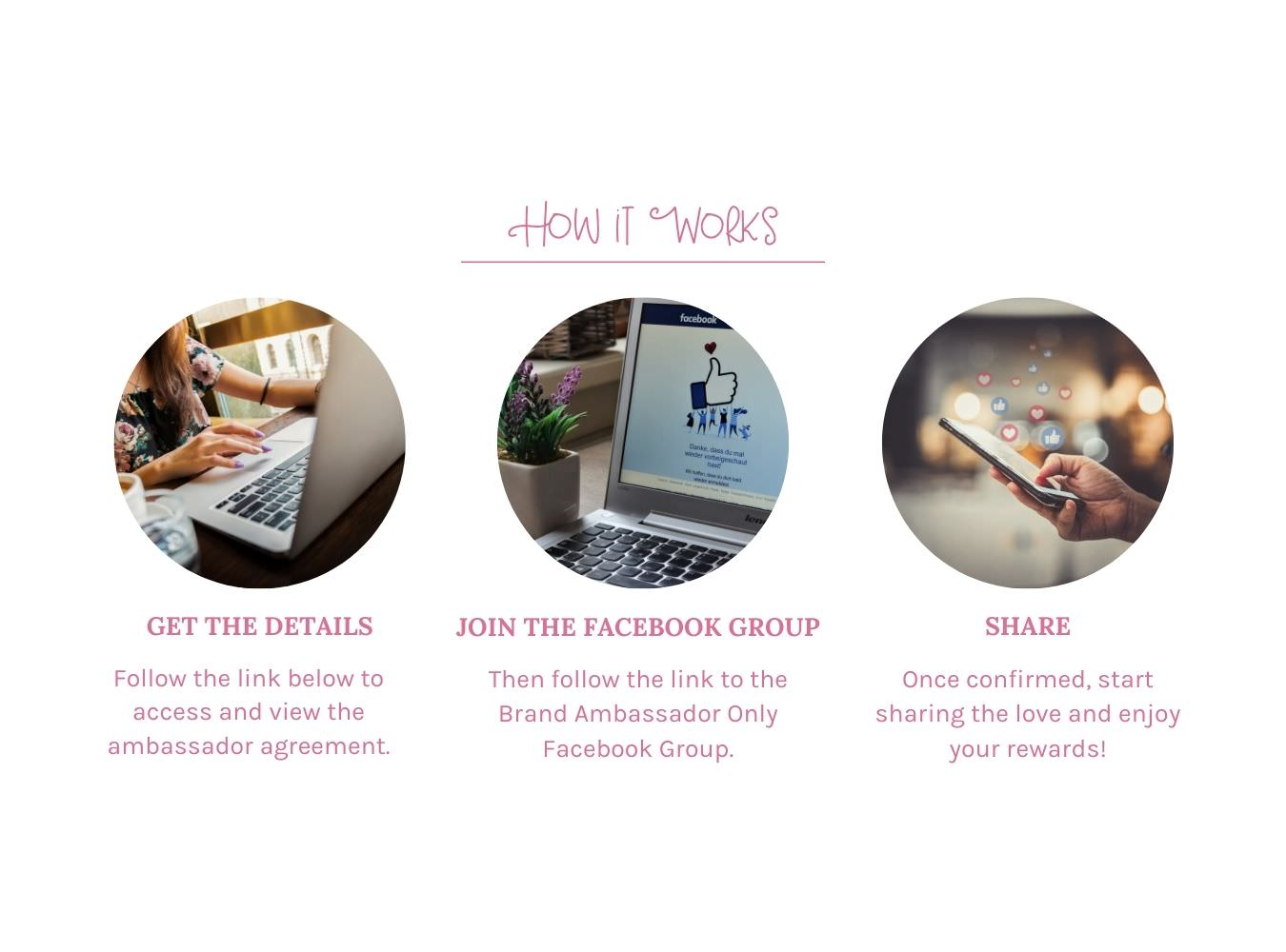 steps to sign up for hair bow brand ambassador