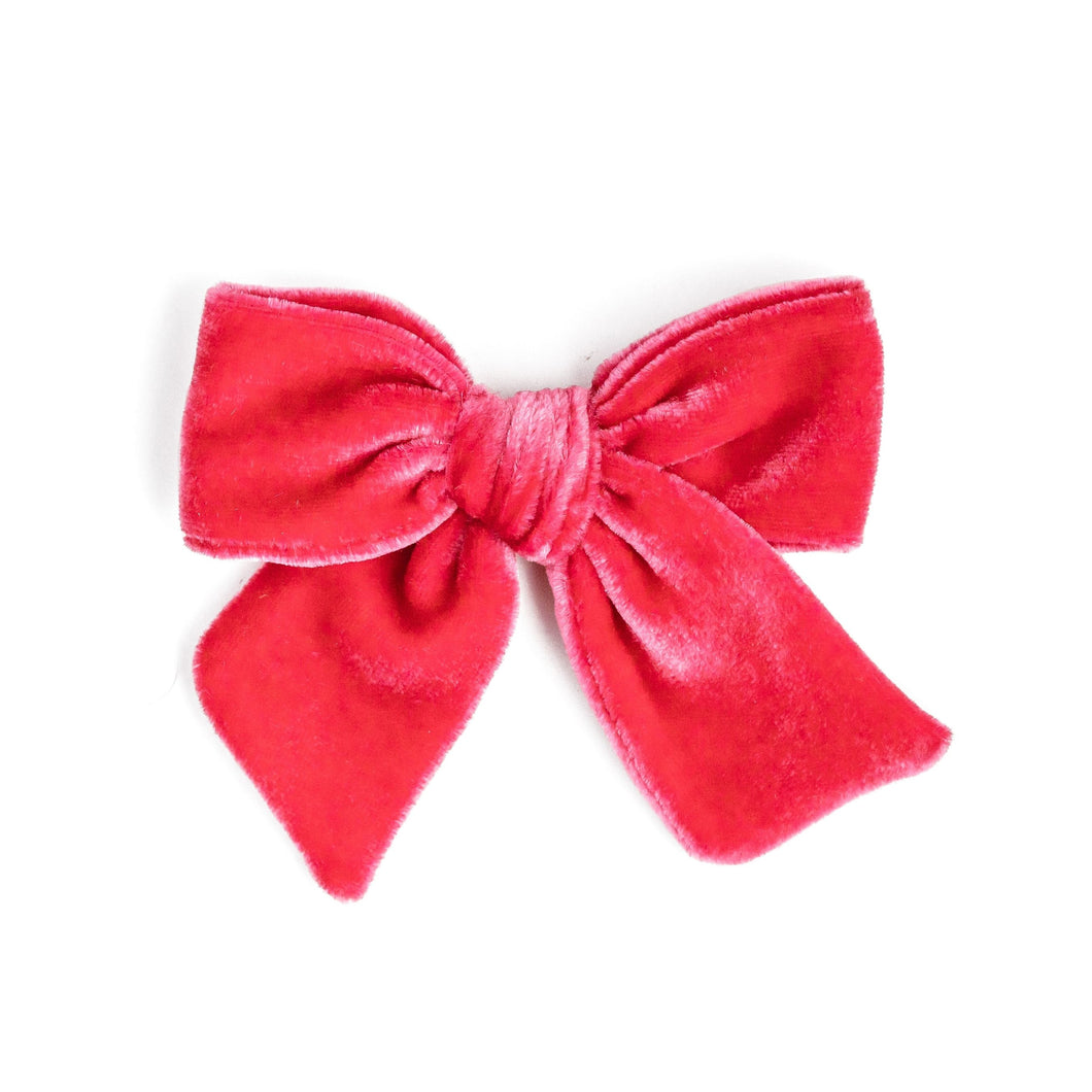 Fruit Punch Velvet | Valentine's Hair Bow