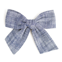 Load image into Gallery viewer, Fresh in Bloom Denim Yarn Dyed | Spring Hair Bow