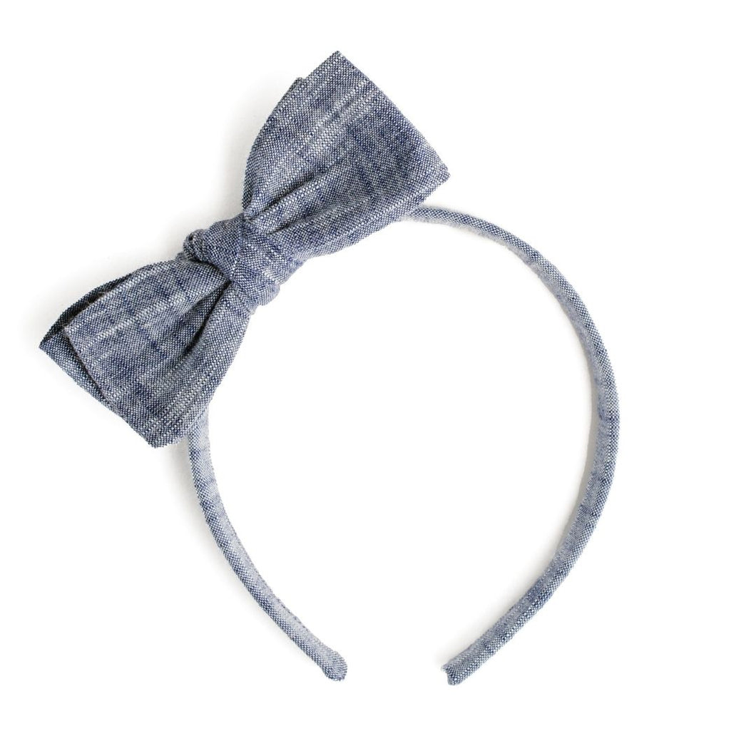 Denim Yarn Dyed Cotton Headband | Spring Headbands