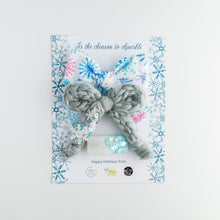 Load image into Gallery viewer, Winter Sparkle Trio - Collab with Made by Mae & Lilly's Bowtique - Lil Wildflower Bows
