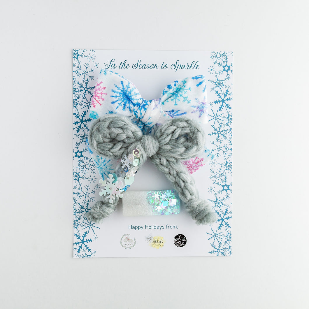 Winter Sparkle Trio - Collab with Made by Mae & Lilly's Bowtique - Lil Wildflower Bows