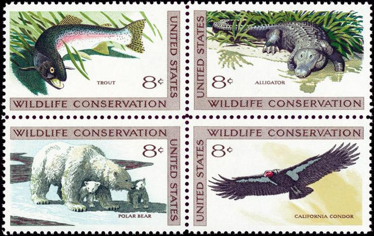 US 1427-30 Postage Stamps Wildlife