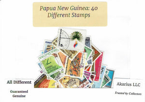 Papua New Guinea 40 Different Used Postage Stamps