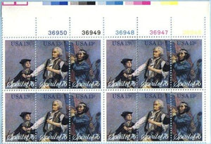 US 1629-31 Spirit of 76 Plate Block of 12 Stamps