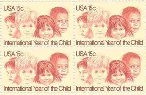 US 1772 Block of 4 Year of the Child