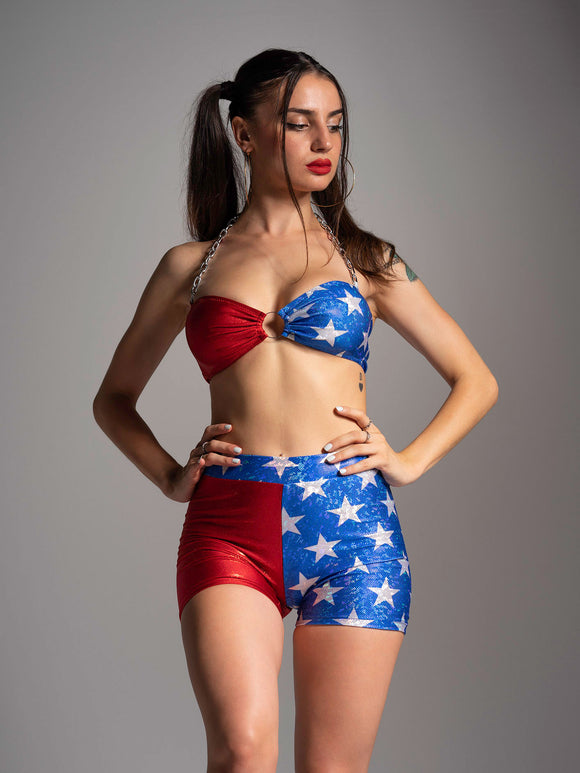 LEGGINS SHORT USA STAR