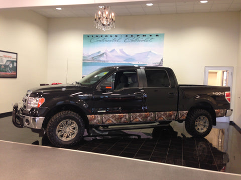 Ford F-150 with partial wrap