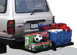 Folded Hitch Mounted Cargo Carrier