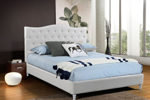 Lily Platform Bed - White