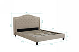Twilight Platform Bed - Beige
