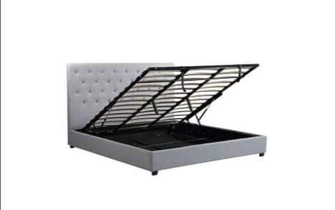 Logan Lift Up Storage Bed - Gray