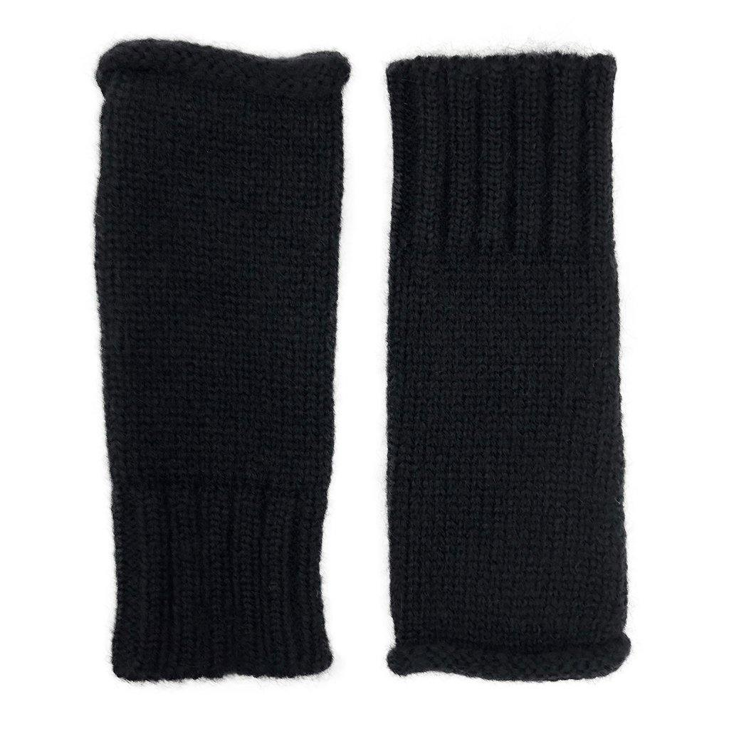 Black Essential Knit Alpaca Gloves