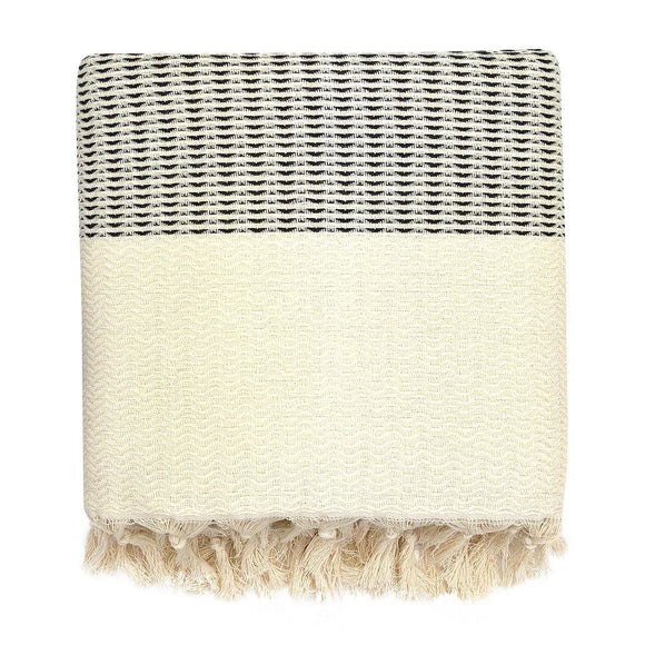 Plush Wavy Turkish Throw