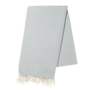 Mint Herringbone Turkish Towel