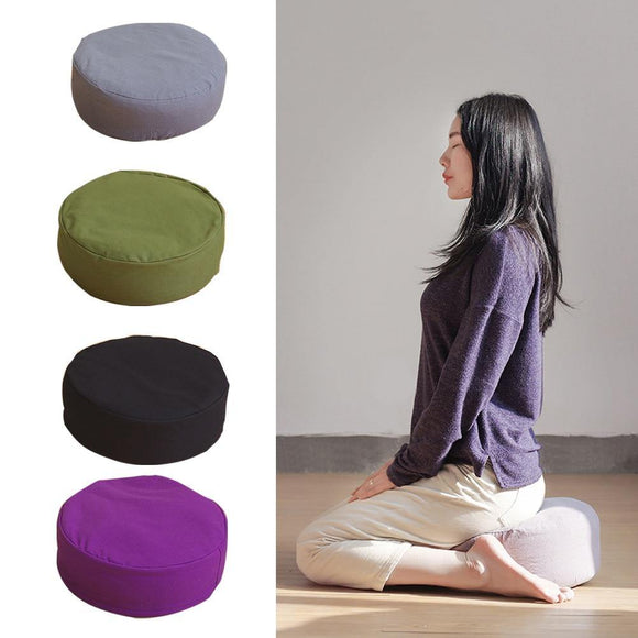 Sunseed Home Zippered Filled Yoga Meditation Cushion