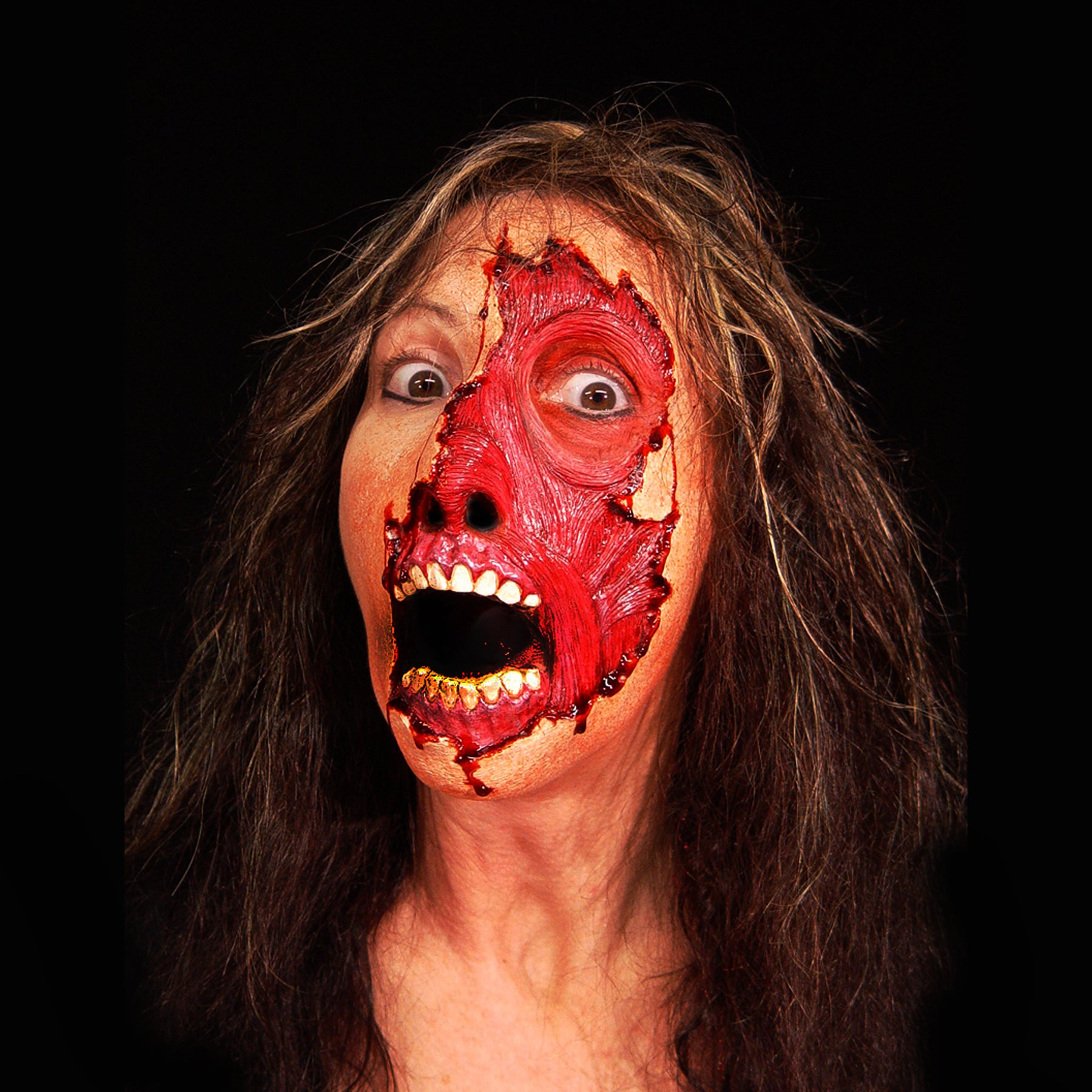 skinned, fx faces, foam latex, prosthetic