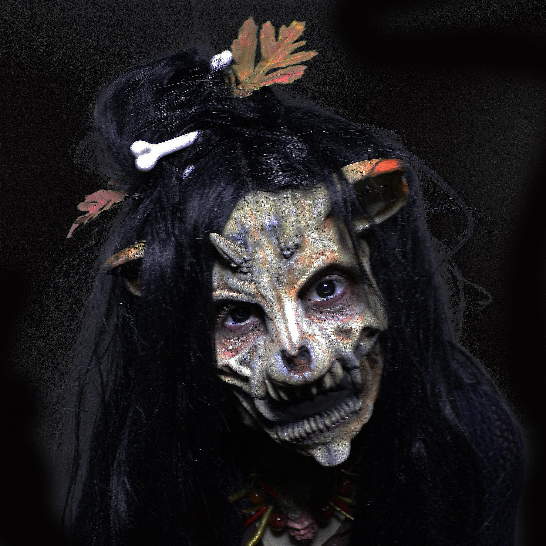 nymph mask, nymph, foam latex mask, satyr mask, prosthetic