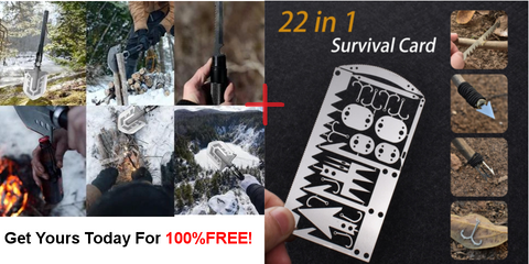 Carbon Shovel plus 22 in 1 Survival Card for FREE