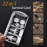 22 in 1 Survival Card