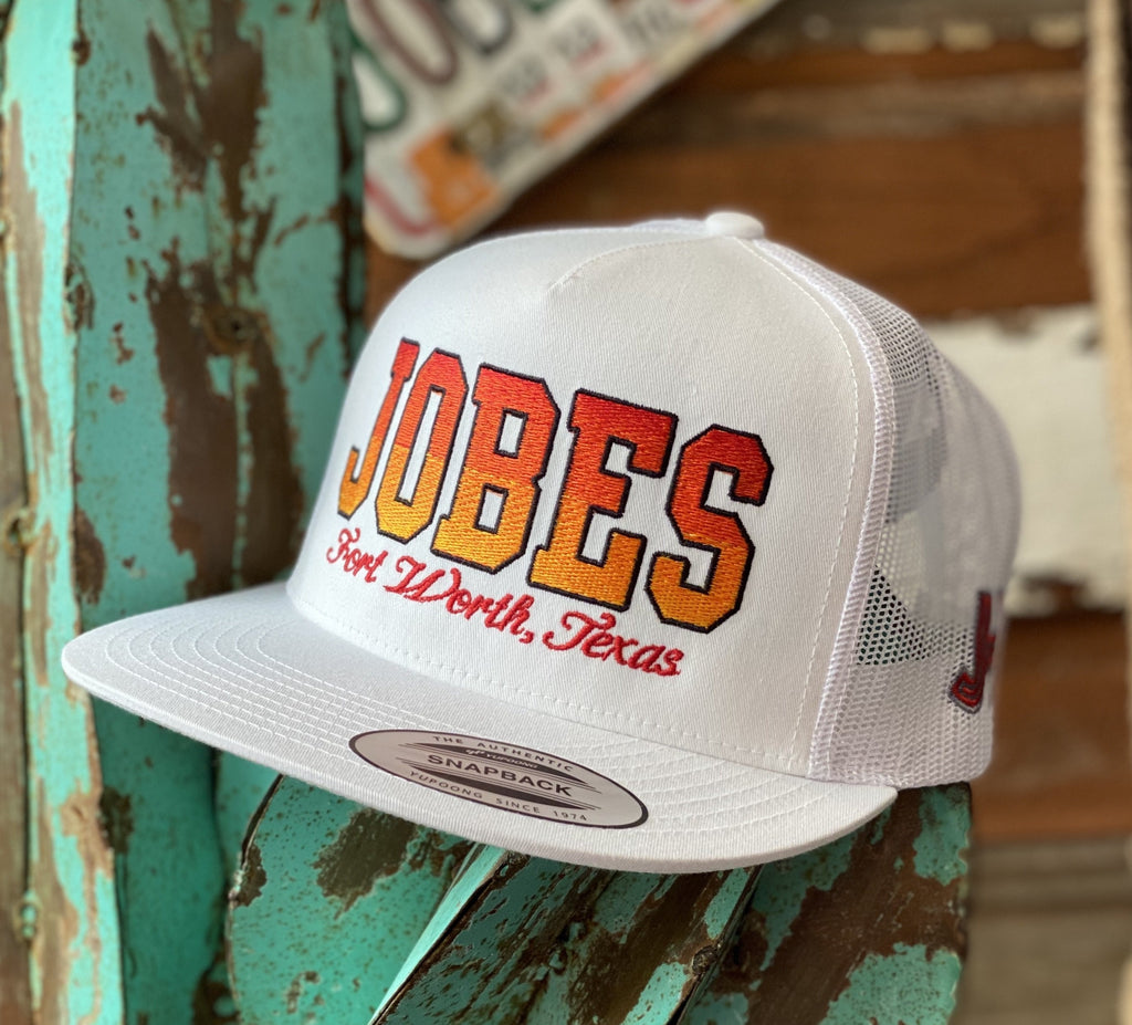 2020 Jobes Hats Trucker - All White Jobes Fire 🔥(Limited) - Jobes Hats