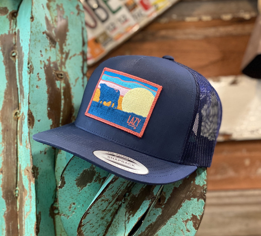 2020 Lazy J cap - All Navy Sky patch - Jobes Hats