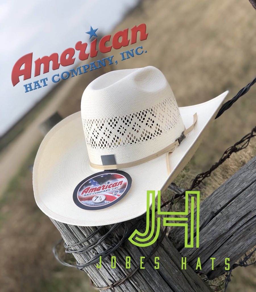 "American Hat Co. Straw #8300  L/O 4"" 1/4 Brim - Jobes Hats"