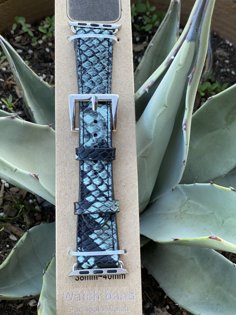 Apple Watch Band Teal Snake Print- 38mm-40mm - Jobes Hats