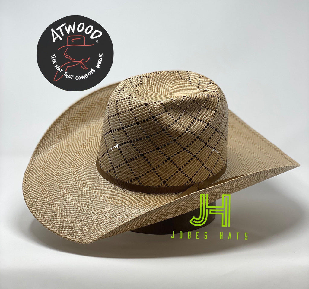 "Atwood Straw ""Northside"" open crown 4""1/4 brim - Jobes Hats"