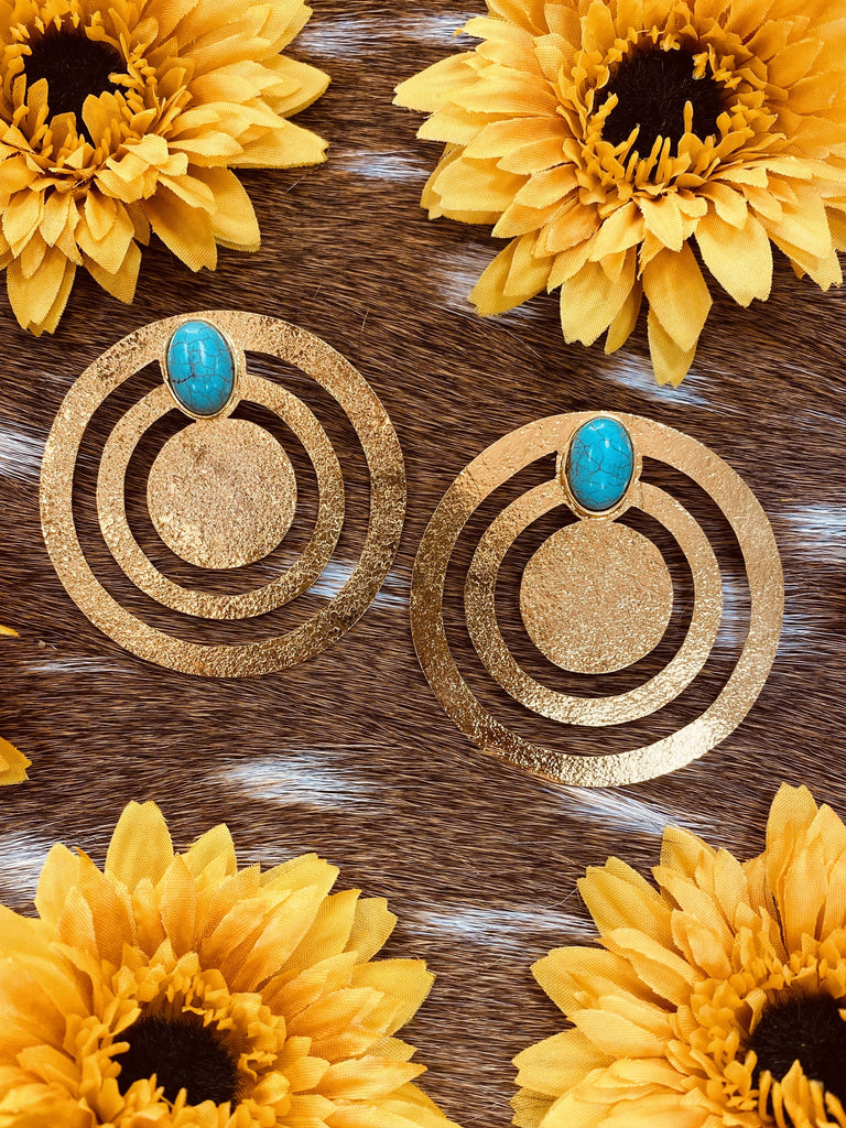 Circle stud Colombian Handmade 24k plated Earrings-JH Boutique-Jobes Hats