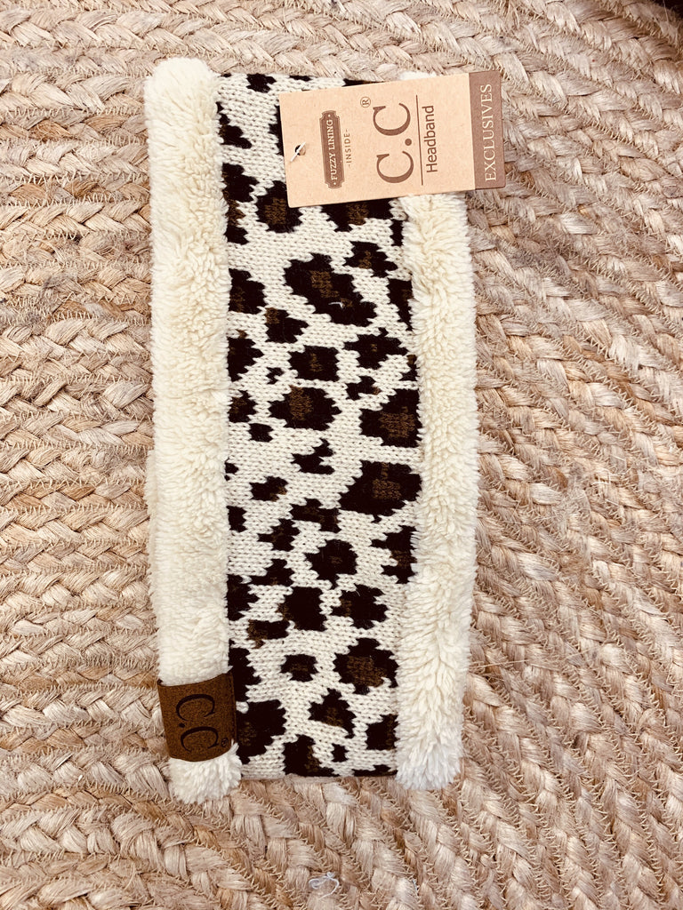 Cream Leopard Headband - Jobes Hats