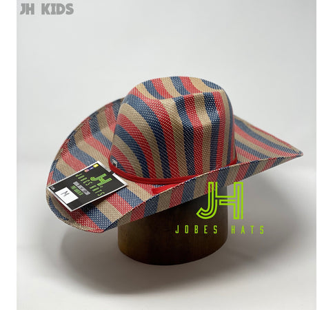 "JH kids Straw hats- ""4th Of July"" - Jobes Hats"
