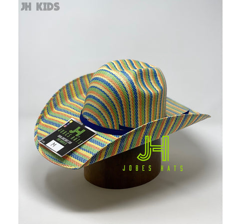 JH kids Straw hats- Rainbow - Jobes Hats