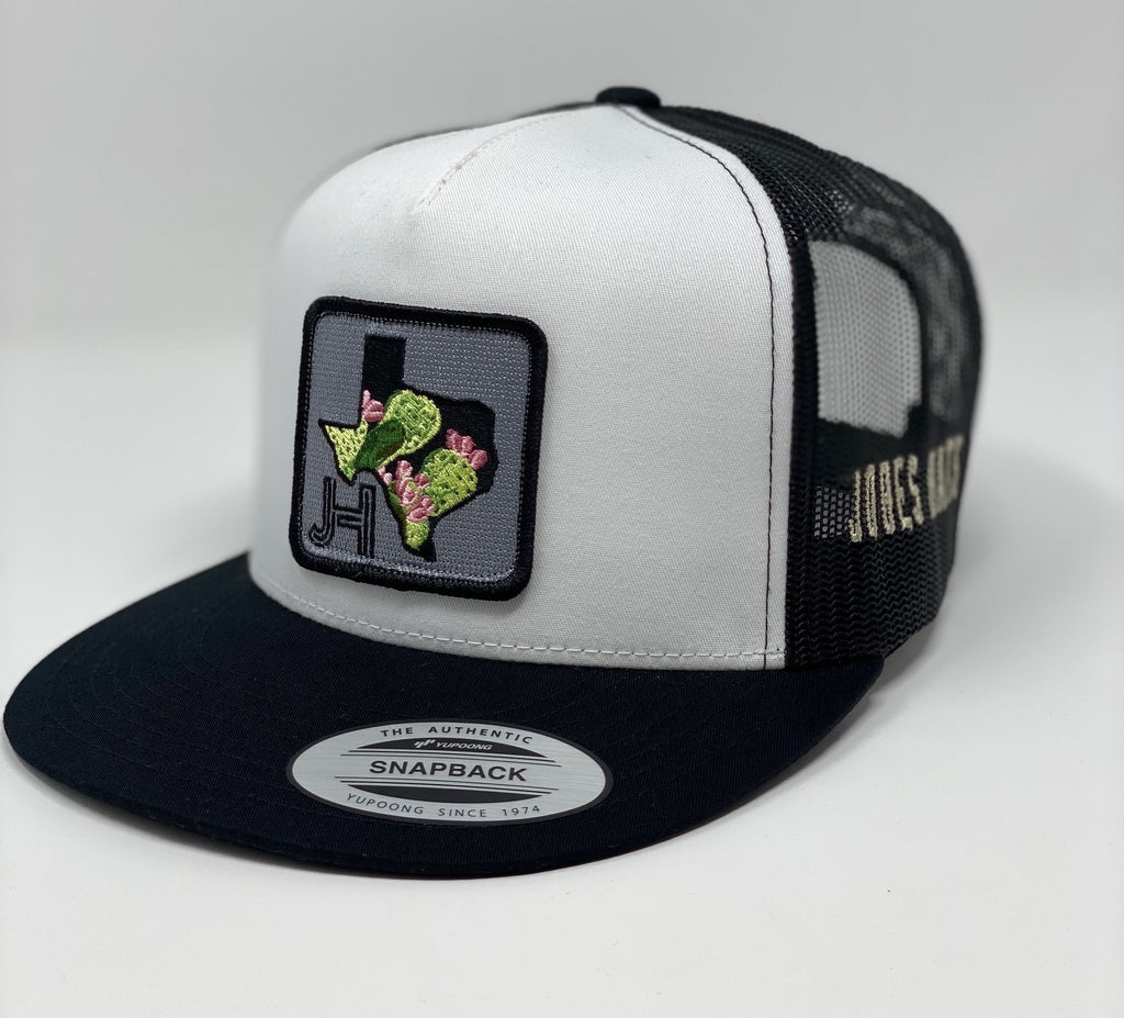 JHC- black/white- texas cactus - Jobes Hats