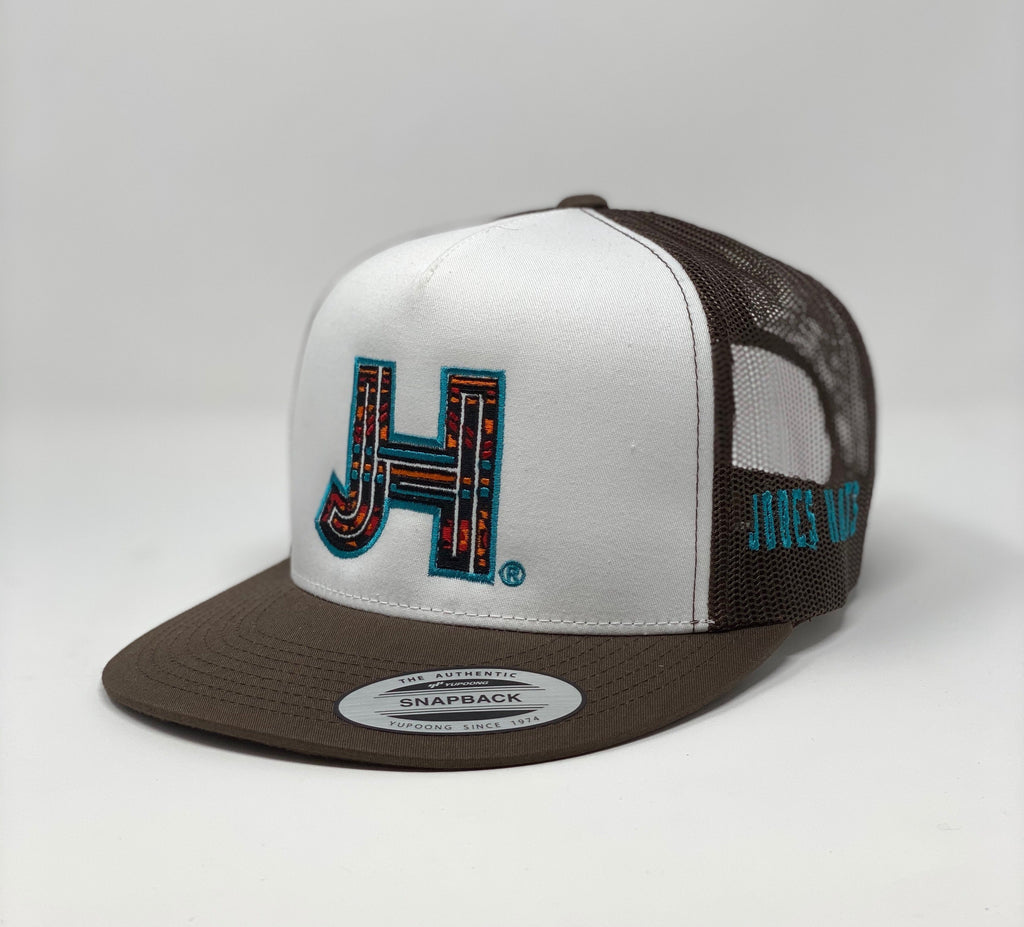 JHC- Brown/white serape - Jobes Hats