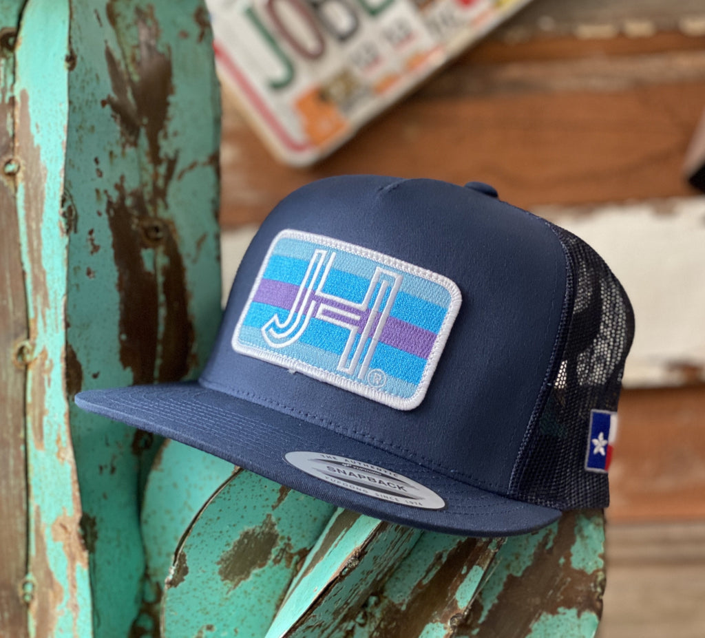 Jobes Hats Trucker - All Navy Tri Blue Patch / White border - Jobes Hats