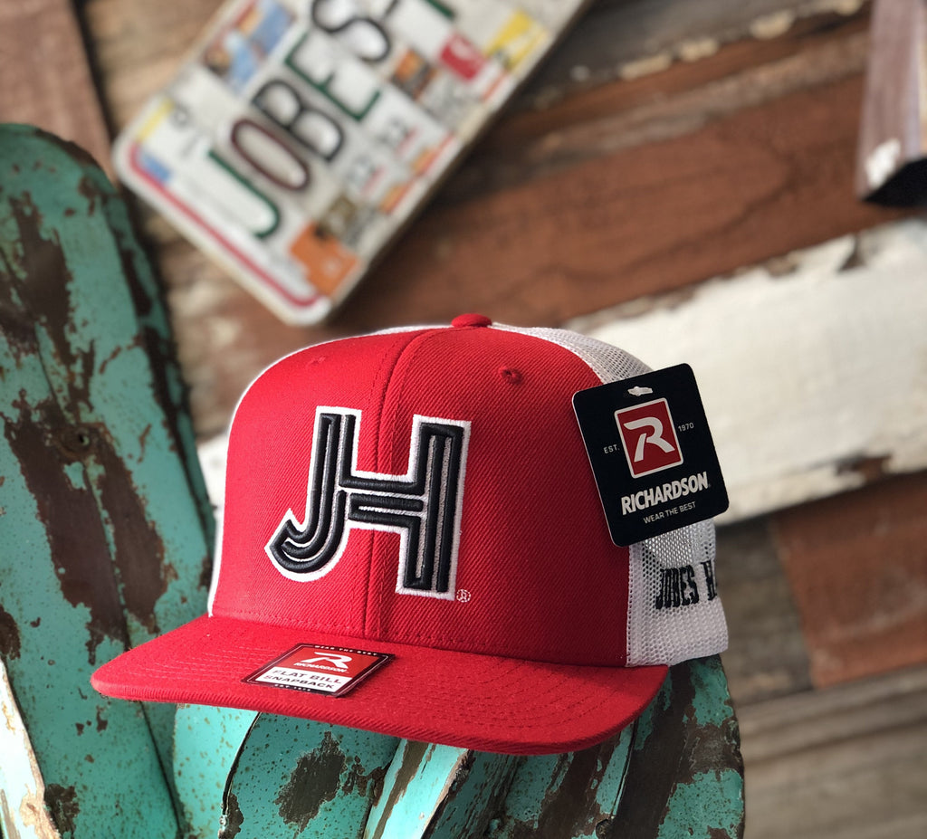 Jobes Hats Trucker - Richardson Red/White - Black 3D JH - Jobes Hats