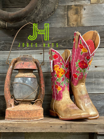Ladies Macie Bean M9137 Metallic/Flowers  Boots - Jobes Hats