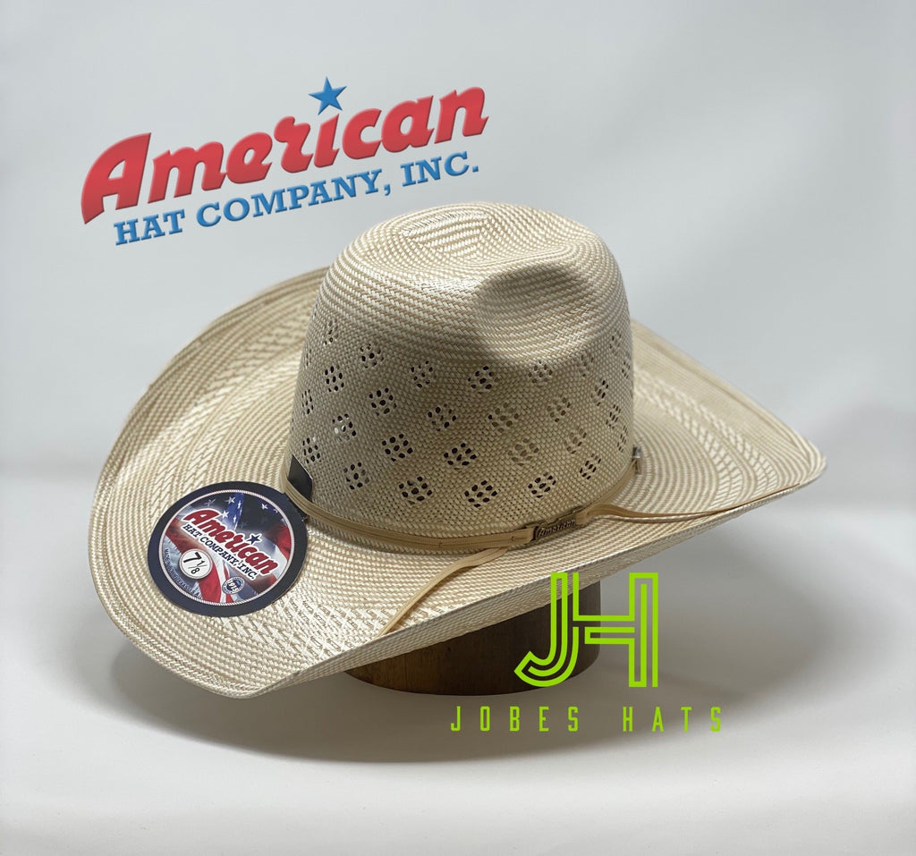 "New 2020 American Hat Co. Straw #7800 4"" 1/4 Brim - Jobes Hats"