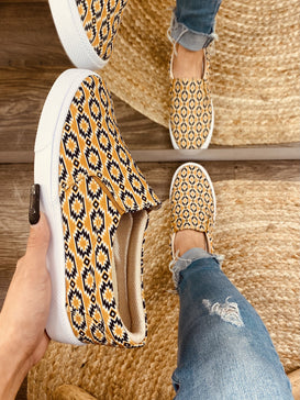NEW! Aztec - Yellow/BLK Women's Slip on Sneakers - Jobes Hats
